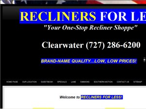 Report a map error. Recliners For Less  sc 1 st  Pinellas County Biz List & Recliners For Less in Clearwater FL - Recliners: Upholstered On ... islam-shia.org